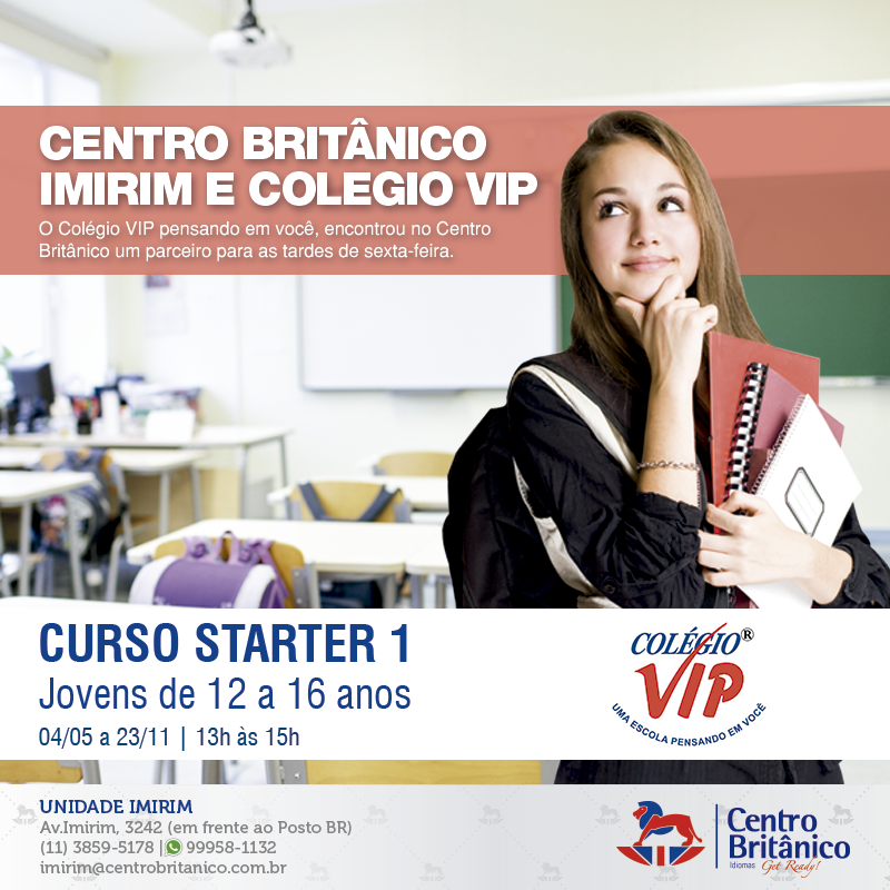 Nova turma In School no Colégio VIP